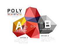 Moden low poly infographics template Royalty Free Stock Images