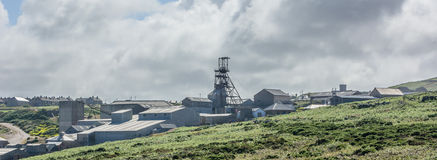 Moden Tin mines in Landscape Stock Photo