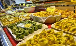 Modena, Emilia Romagna, Italy. Filled pasta: cappelletti agnolotti stock images