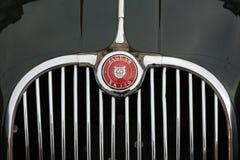 MODENA, ITÁLIA, em maio de 2017 - exposição clássica da coleção do carro, jaguar XK 150 Fotografia de Stock Royalty Free