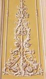 MODENA, ITALIË - APRIL 14, 2018: De fresko van barokke decoratie in Di Santa Eufemia van kerkchiesa royalty-vrije stock afbeelding