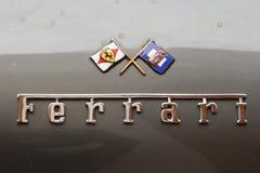 MODENA, ITALIA, maggio 2017 - mostra classica della raccolta dell'automobile, guarnizione di Ferrari Fotografia Stock Libera da Diritti