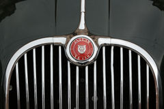 MODENA, ITALIEN, im Mai 2017 - Oldtimersammlungsausstellung, Jaguar XK 150 Stockbild
