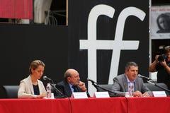MODENA Italien, SEPTEMBER, 2016: Umberto Galimberti offentlig filosofisk konferens, festival av filosofin 2016 Royaltyfri Foto