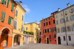 Modena, Italy. Emilia-Romagna region. Colorful Mediterranean architecture stock photos