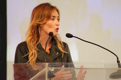 MODENA, Italy, SEPTEMBER, 2016: Maria Elena Boschi, public politic conference Democratic Party Convention Royalty Free Stock Images
