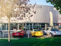 Modena Motors luxury sport car dealership building office stock images