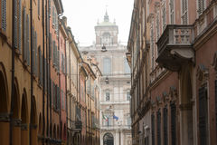 Modena - Street with portico Stock Photo