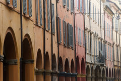 Modena - Street with portico Stock Image