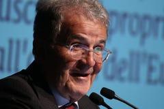 Modena, Włochy, Kwiecień 2019 - Romano Prodi, jawna konferencja, Europejski polityk zdjęcie royalty free