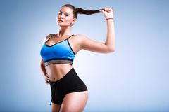 Modep plus size in a studio Stock Photography