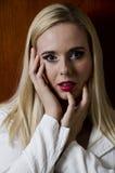 Modeporträt Blondine Stockfotografie