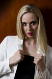 Modeporträt Blondine Lizenzfreies Stockfoto