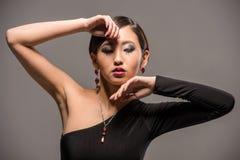 Modeporträt der asiatischen Frau Stockfotografie