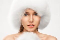 Modeporträt der jungen schönen Frau lizenzfreie stockfotos