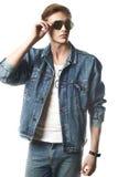 Modeporträt des jungen Mannes Lizenzfreies Stockfoto