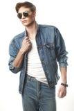 Modeporträt des jungen Mannes stockfoto