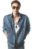 Modeporträt des jungen Mannes Lizenzfreies Stockbild