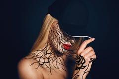 Modeporträt des Mädchens mit faceart Lizenzfreies Stockbild