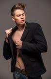 Modeporträt des Mannes Lizenzfreies Stockbild