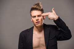 Modeporträt des Mannes Stockbild