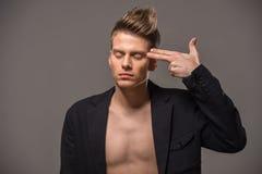 Modeporträt des Mannes Lizenzfreie Stockfotografie