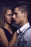 Modeporträt von jungen schönen Paaren Lizenzfreies Stockfoto