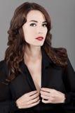 Modeporträt der jungen schönen Frau Lizenzfreies Stockbild