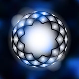 Moder abstract background with geometrical star, lights,  Royalty Free Stock Photos