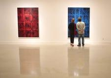 Moder art exhibit in Mallorca stock image