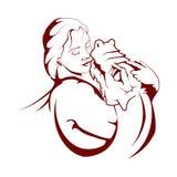 Moder av drakeillustrationen Lek av biskopsstolar royaltyfri illustrationer
