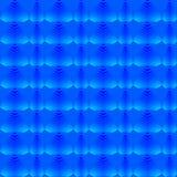Moder av pärlamodellen av blåa hjärtor och band på en himla- bakgrund vektor illustrationer