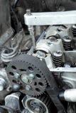 Moder engine repairing Royalty Free Stock Image
