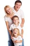 Moder, fader, son och dotter arkivfoto