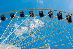 Moder ferris wheel stock image