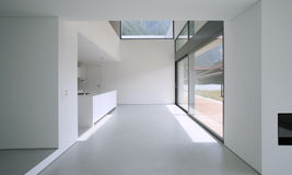 Moder house. Beautiful Internal view of a modern house royalty free stock images