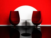 Moder interior design with armchairs and a table Stock Photo