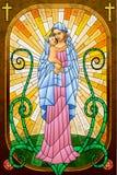 Moder Mary med Jesus Christ Arkivfoto
