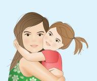 Moder med barnet Arkivfoto