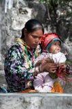 Moder med barnet Royaltyfri Fotografi