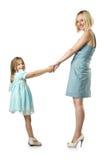 Moder med dottern Arkivfoton