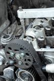 Moder Motorreparatur Lizenzfreies Stockbild