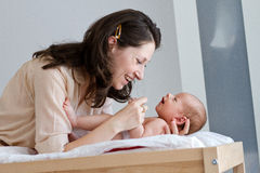 Moder och barn Arkivfoto