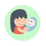 Moder och barnet Arkivfoton