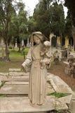 Moder- och barnstatyBonaria kyrkogård Royaltyfria Foton