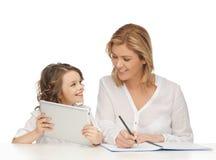 Moder och dotter Fotografering för Bildbyråer