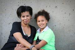 Moder och dotter Arkivbilder
