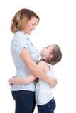 Moder- och dotterblick på de Royaltyfri Foto