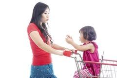Moder- och dottersamtal royaltyfria bilder