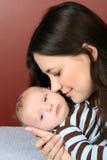 Moder och nyfött Arkivfoto